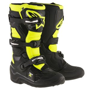 Bottes cross TECH 7S - BLACK YELLOW FLUO ENFANT  Black/Yellow fluo