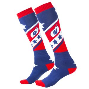 Chaussettes MX - STARS - RED BLUE  Red Blue