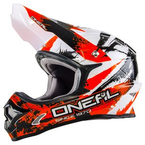 Casque cross 3 SERIES SHOCKER - NOIR ORANGE - 2018 Black/orange