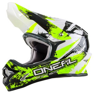 Casque Cross O'neal 3 Series Shocker - Noir Jaune Fluo - 2018