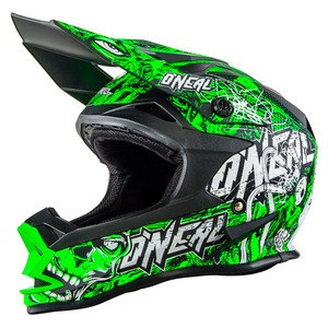 Casque Cross O'neal Series 7 Evo Menace - Vert Fluo - 2018