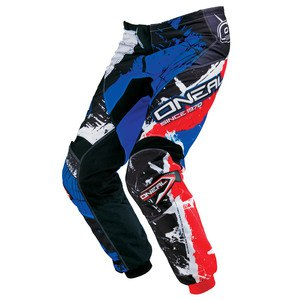 Pantalon Cross O'neal Element Shocker - Noir Bleu Rouge - 2018