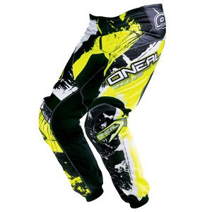 Pantalon cross ELEMENT SHOCKER YOUTH - NOIR JAUNE FLUO -  2018 Black/yellow