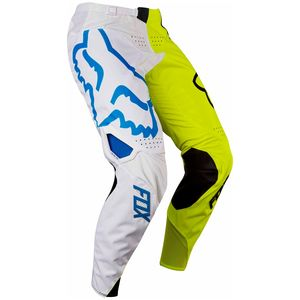 Pantalon cross 360 YOUTH CREO  - BLANC JAUNE 2017 Blanc/Jaune