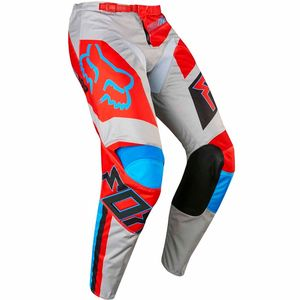 Pantalon cross 180 FALCON  - GRIS ROUGE 2017 Gris/Rouge