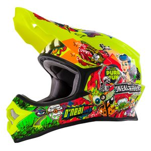 Casque cross 3 SERIES - CRANK - HI-VIZ 2019 Neon Yellow