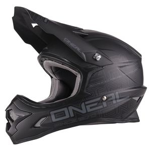 Casque cross 3 SERIES -  FLAT - BLACK MAT 2019 Black mat