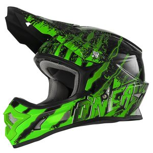 Casque cross 3 SERIES - MERCURY - BLACK GREEN 2019 Black/Green