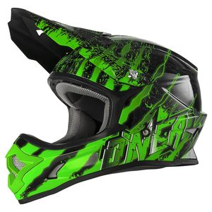 Casque cross 3 SERIES YOUTH - MERCURY - BLACK GREEN  Black/Green