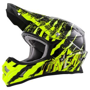 Casque Cross O'neal 3 Series Mercury - Noir Jaune Fluo - 2018