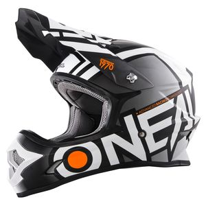 Casque Cross O'neal Series 3 Radium - Noir Blanc (mat) - 2018