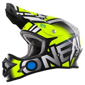Casque Cross O'neal Series 3 Radium - Jaune Fluo Gris (mat) - 2018