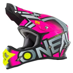 Casque cross 3 SERIES - RADIUM - PINK MAT 2019 Pink
