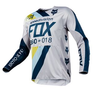 Maillot Cross Fox 360 Draftr - Gris Clair - 2018
