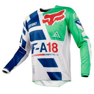Maillot Cross Fox 180 Youth Sayak - Vert - 2018