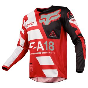 Maillot Cross Fox 180 Kid Sayak - Rouge - 2018