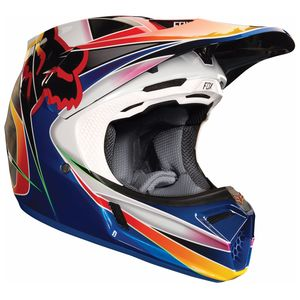 Casque Cross Fox V3 Kustm - Multi (mat/brillant) - 2018
