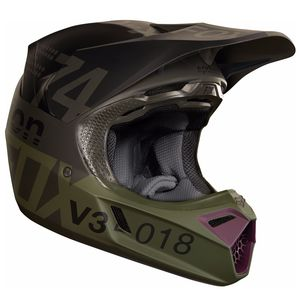 Casque Cross Fox V3 Draftr - Charcoal (mat/brillant) - 2018