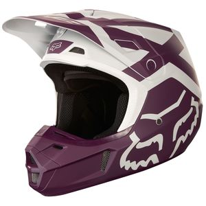 Casque Cross Fox V2 Preme - Violet (mat) - 2018