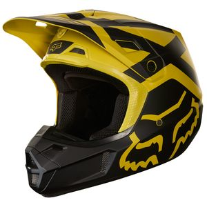 Casque Cross Fox V2 Preme - Jaune Fonce (mat) - 2018