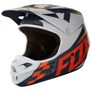 Casque Cross Fox V1 Sayak - Orange (mat) - 2018