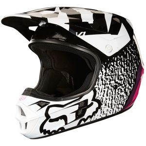 Casque Cross Fox V1 Halyn - Noir Rose - 2018