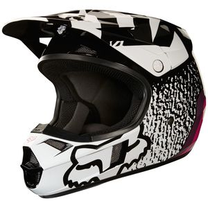 Casque Cross Fox V1 Youth Halyn - Noir Rose - 2018