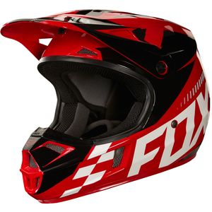 Casque Cross Fox V1 Youth Sayak - Rouge - 2018