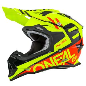 Casque cross 2 SERIES RL - SPYDE - BLACK RED HI-VIZ 2019 Black/Red/Yellow