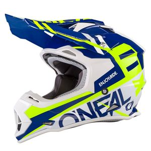 Casque Cross O'neal 2 Series Rl - Spyde - Blue Hi-viz 2019