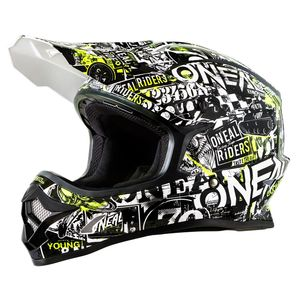 Casque cross 3 SERIES - ATTACK - BLACK HI-VIZ 2019 Black/yellow