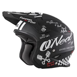 Casque Cross O'neal Slat - Tourment - Black White 2019
