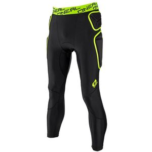 Pantalon Technique TRAIL - LONG - LIME BLACK  Noir/Jaune