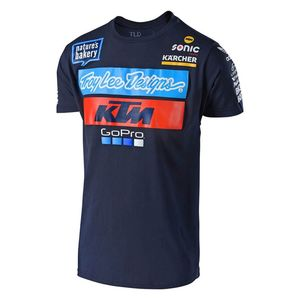 T-Shirt manches courtes TLD KTM TEAM TEE NAVY  Blue / White