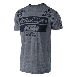 T-Shirt manches courtes TLD KTM TEAM TEE NAVY  Gray Snow