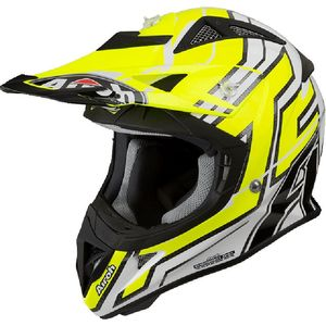 Casque cross AVIATOR J - CAIROLI 019 - GLOSS  Gris/Jaune