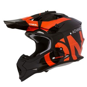 Casque cross 2 SERIES RL - SLICK - BLACK ORANGE GLOSSY 2021 Black/orange