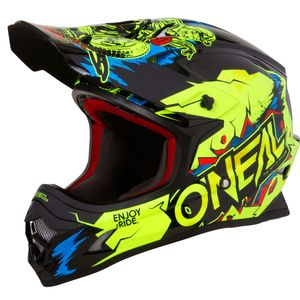 Casque Cross O'neal 3 Series - Villain - Neon Yellow 2019