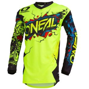 Maillot cross ELEMENT - VILLAIN - NEON YELLOW 2020 Neon Yellow