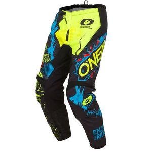 Pantalon cross O'Neal ELEMENT - VILLAIN - NEON YELLOW 2020