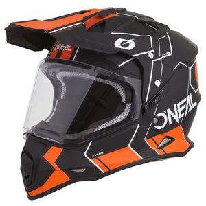 Casque cross SIERRA II - COMB - BLACK ORANGE MATT  Black/orange