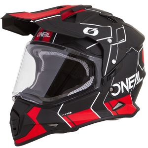 Casque cross SIERRA II - COMB - BLACK RED MATT  Black/Red