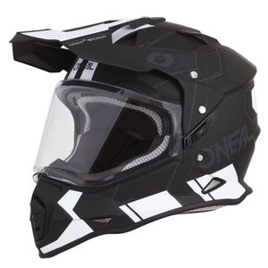 Casque cross SIERRA II - COMB - BLACK WHITE MATT  Black/white