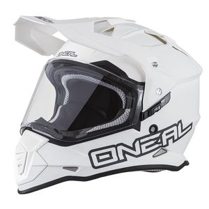 Casque cross SIERRA II - FLAT - WHITE  White