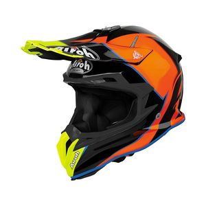Casque cross TERMINATOR OPEN VISION - SLIDER - AZURE GLOSS 2018 Bleu/Rouge