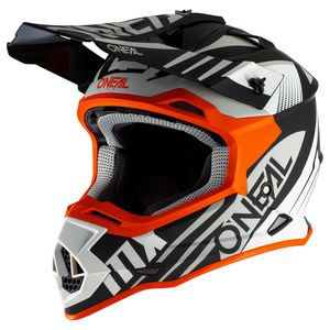Casque cross 2 SERIES - SPYDE 2.0 - BLACK WHITE ORANGE MAT 2021 Black/White/Orange