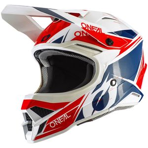Casque cross SERIES 3 - STARDUST - WHITE BLUE RED GLOSSY 2021 White Blue Red
