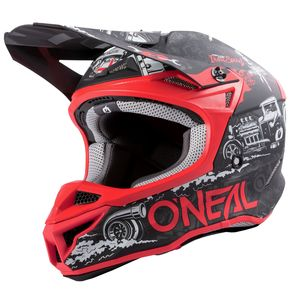 Casque cross 5 SERIES - HR - BLACK RED MATT 2021 Black/Red