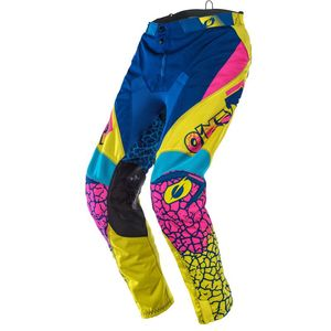 Pantalon cross O'Neal MAYHEM - CRACKLE 91 - YELLOW WHITE BLUE 2021