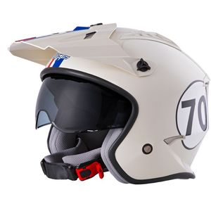 Casque VOLT - HERBIE - WHITE RED BLUE GLOSSY 2022 White Red Blue
